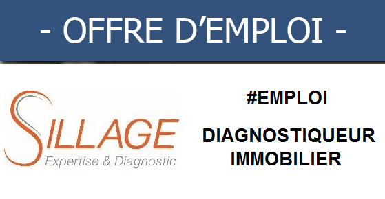 ✦Sillage recrute un diagnostiqueur immobilier✦